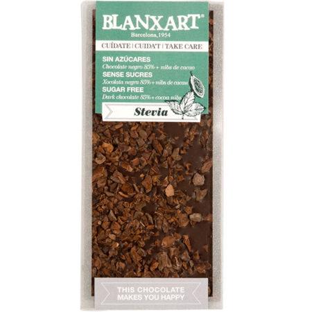 Blanxart suikervrij 85% met cacao nibs
