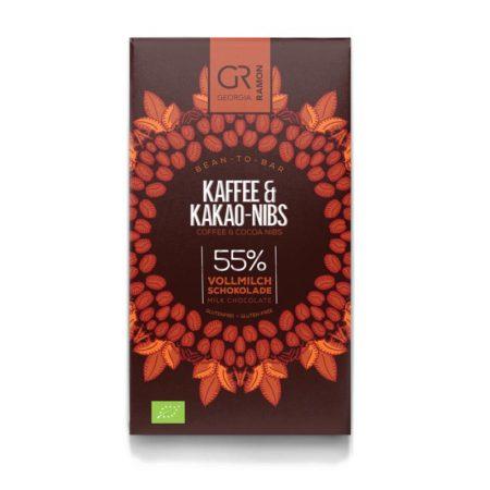 Koffie & Cacao nibs 55% Melkchocolade BIO