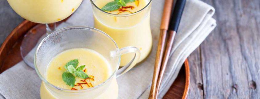 Mango en vanille smoothie
