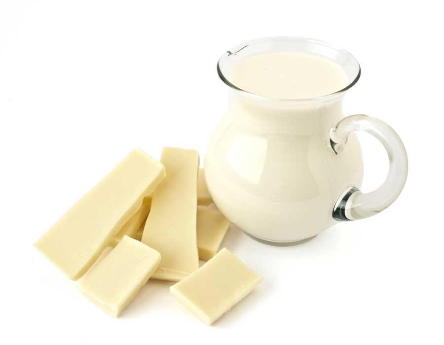 Witte chocolademelk met vanille