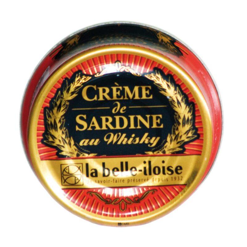 Crème van sardines in de whisky