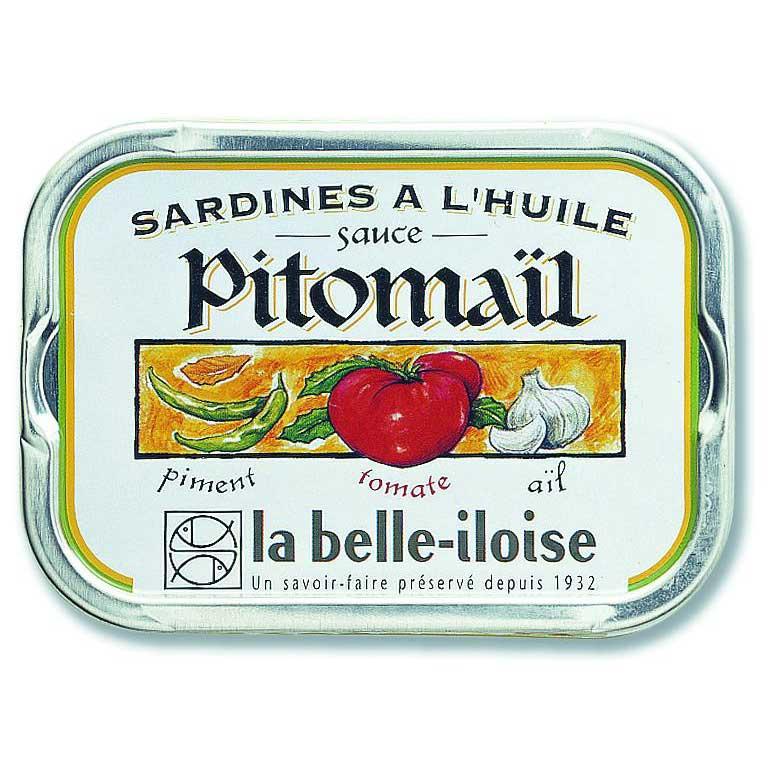 Sardines à la sauce 5 pitomaïl - la Belle-Iloise